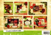 Traditional Christmas 3d Gold Foil Die Cut Decoupage A5 Block  By Studio Light - No Cutting